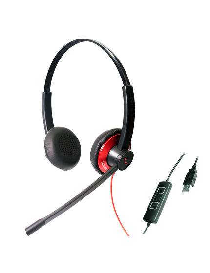 Epic 511-512: UC Headsets With Double Microphone Noise Canceling For Extreme Noisy Working Environments